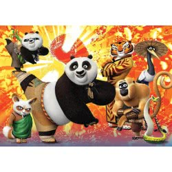 Clementoni Παζλ 104τεμ. Maxi Super Color Kung Fu Panda 3 1210-27959 8005125279593