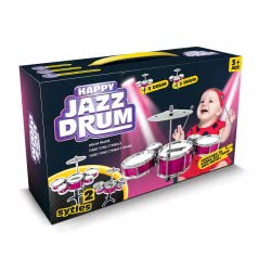 Toys-shop D.I Τύμπανα Σετ Ντραμς Jazz Drum Φουξ JM081305 6990119813056