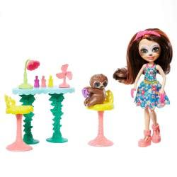 Mattel Enchantimals Σαλόνι Ομορφιάς Και Ζωάκι Φιλαράκι Sela Sloth FCC62 / GFN54 887961766509