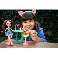 Enchantimals Slow-Down Salon /& Sela Sloth Doll New Mattel