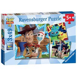 Ravensburger Puzzle 3X49 Τεμ. Toy Story 4 8067 4005556080670