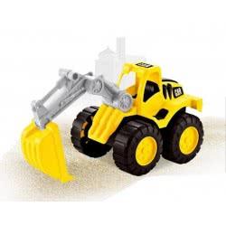 Toys-shop D.I Μεγάλος Πλαστικός Εκσκαφέας Free Wheel JI044198 6990119441983