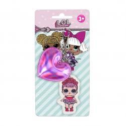 Cerda L.O.L. Surprise Key Chain Purple Heart 2600000565 8427934287543