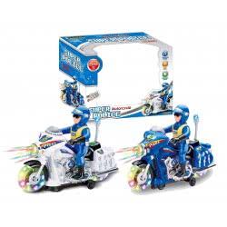 Toys-shop D.I Μοτοσυκλέτα Αστυνομίας Μπαταρίας Με Φώτα Και Ήχους Σε 2 Χρώματα JB054419 6990119544196