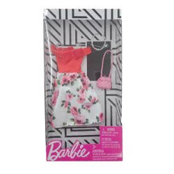 Mattel Barbie Fashion Βραδινά Σύνολα Φόρεμα Με Λουλούδια Και Αξεσουάρ FND47 / FXJ15 887961692259