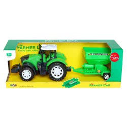 Toys-shop D.I Τρακτέρ Με Καρότσα Σπαρτική Μηχανή Friction JA085623 6990119856237