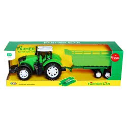 Toys-shop D.I Friction Power Farmer Tractor And High Trailor JA085632 6990119856329