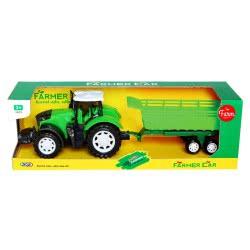 Toys-shop D.I Τρακτέρ Αυτοκούρδιστο Με Καρότσα Μεγάλη JA085632 6990119856329