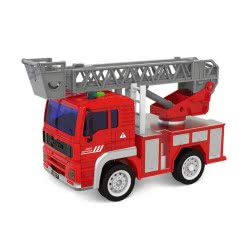 Toys-shop D.I Friction Power Fire Engine With Sound And Light JA086991 6990119869916