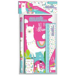 MUST No Prob Llama Stationary Set With 5 Pieces 000579636 5205698429941