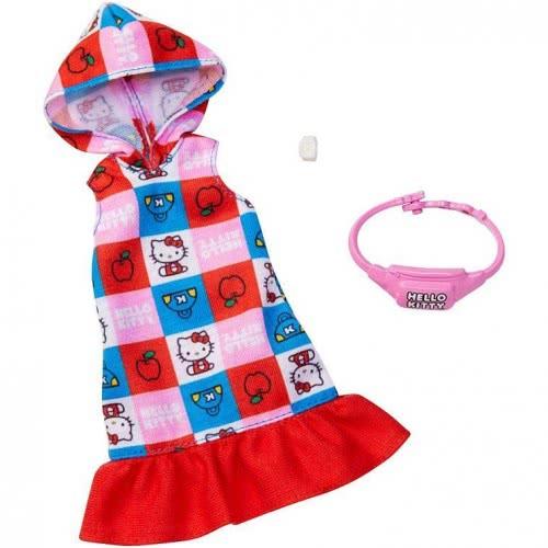 Mattel Barbie Πρωϊνά Σύνολα - Διάσημες Μόδες - Hello Kitty Hoodie Dress FYW81 / FXK79 887961694307