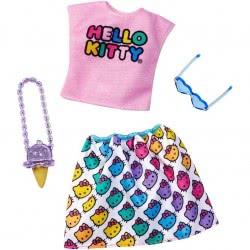 Mattel Barbie Πρωϊνά Σύνολα - Διάσημες Μόδες - Hello Kitty Fashions FYW81 / FXK82 887961694000