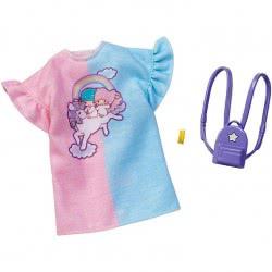 Mattel Barbie Πρωϊνά Σύνολα - Διάσημες Μόδες - Hello Kitty Little Twin Stars Shirt Dress FYW81 / FXK81 887961694123
