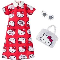 Mattel Barbie Hello Kitty Red Dress Fashion FYW81 / FKR67 887961551563