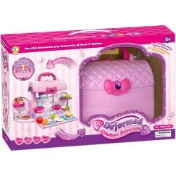 Toys-shop D.I Kitchen Handbag Παιδική Κουζίνα-Βαλιτσάκι Με Φως Και Ήχους - Ροζ JU045325 6990119453252