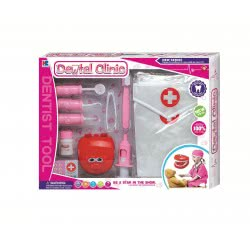 Toys-shop D.I Ιατρικό Σετ Οδοντίατρου Ροζ Dental Clinic JU042386 6990119423866