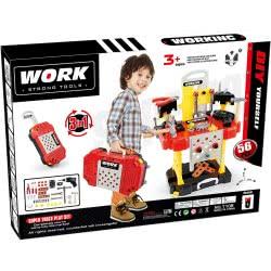 Toys-shop D.I Βαλιτσάκι-Τρόλλεϋ Και Πάγκος Εργαλείων 3 Σε 1 Με 56 Αξεσουάρ JU043595 6990119435951