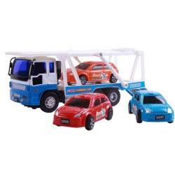 Toys-shop D.I Νταλίκα Μεταφοράς Οχημάτων Με 3 Οχήματα Friction JA085839 6990119858392