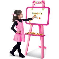 Toys-shop D.I Learning Easel Πίνακας 2 Όψεων 3 Σε 1 - Ροζ JK103075 6990119030750