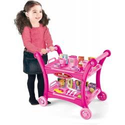 Toys-shop D.I My Funny Dining Car Καροτσάκι Σερβιρίσματος Με 18 Αξεσουάρ - Ροζ JU044618 6990119446186