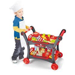 Toys-shop D.I The Deluxe Push Dining Car Καροτσάκι Σερβιρίσματος Με 25 Αξεσουάρ - Κόκκινο JU044617 6990119446179