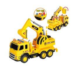 Toys-shop D.I Φορτηγό Με Με Εκσκαφέα JA089948 6990119899487