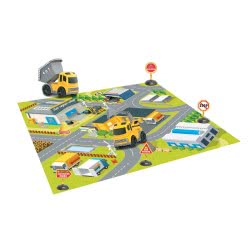 Toys-shop D.I Σετ Τάπητας Με Δομικά Οχήματα Και Σήματα JA090502 6990119905027