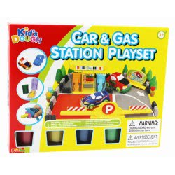 Toys-shop D.I Kid's Dough Car And Gas Station Playset Πλαστοζυμαράκια JK097863 6990119978632