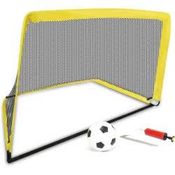 Toys-shop D.I Soccer Goal Σετ Τέρμα Ποδοσφαίρου Με Μπάλα, Τρόμπα Και Τσάντα Μεταφοράς JS059128 6990119591282