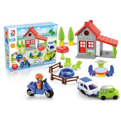 Toys-shop D.I Family Blocks House With 57 Pieces JK104343 6990119043439