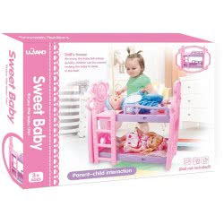 Toys-shop D.I Sweet Baby Double Doll Bed 51X30x52 Cm JZ061789 6990119617890