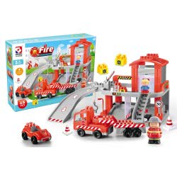 Toys-shop D.I Fire Station Blocks Τουβλάκια Πυροσβεστικός Σταθμός 65 Τμχ. JK104337 6990119043378