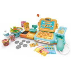 Toys-shop D.I Happy Shopping Cash Register With 24 Accessories JU046907 6990119469079