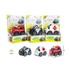 Toys-shop D.I Αυτοκινητάκι City Rescue Pull Back 1Τεμ JC056906 6990119569069