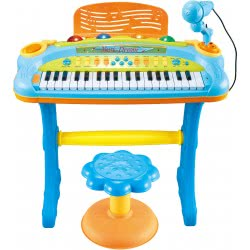 Toys-shop D.I My Piano Musical Set Ηλεκτρονικό Αρμόνιο Με 37 Πλήκτρα Και Σκαμπό JM081875 6990119835577