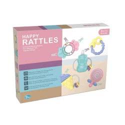 Toys-shop D.I Κουδουνίστρες Σετ Baby Happy Rattles JM082039 6990119820399