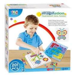 Toys-shop D.I Mushroom Nail Puzzle 201Pcs JK095747 6990119957477