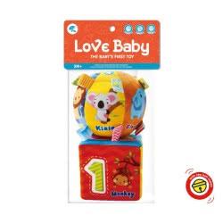 Toys-shop D.I Love Baby Μπαλίτσα Και Κύβος Με Κουδουνάκι JK097348 6990119973484