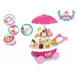 Toys-shop D.I Παγωτατζίδικο Σε Τρόλευ Με Ήχους Και Φώτα JU046598 6990119465989