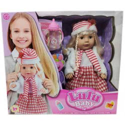 Toys-shop D.I Lulu Baby Διαδραστική Κούκλα Με Αξεσουάρ 35 Εκ. JO098511 6990119985111