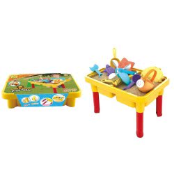 Toys-shop D.I Sand And Water Παιδικό Τραπεζάκι Παραλίας Με 12 Αξεσουάρ JQ012262 6990119122622