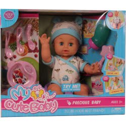Toys-shop D.I Cute Baby Doll 40 Cm With 8 Accessories JO078276 6990119782765