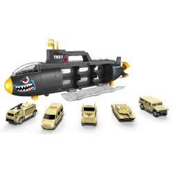 Toys-shop D.I Shark Submarine THS1 With 6 Vehicles JY054891 6990119548910