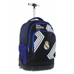 Diakakis imports Primary School Trolley Backbag Real Madrid 3 Compartments 31X20x47cm 000170572 5205698447877