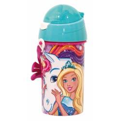 GIM Barbie Unicorn Water Canteen FD 500Ml - Blue 571-15209 5204549117310