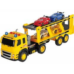 Toys-shop D.I Transport City Truck With 4 Racing Cars JA089960 6990119899609
