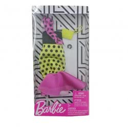 Mattel Barbie Fashion Pink Dotted Dress And Accessory FND47 / FXJ18 887961692235