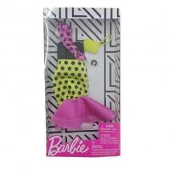 Mattel Barbie Fashion Βραδινά Σύνολα Πουά Φόρεμα Με Αξεσουάρ FND47 / FXJ18 887961692235