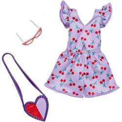 Mattel Barbie Fashion Purple Dress With Cherries And Accessory FND47 / FXJ12 887961692242