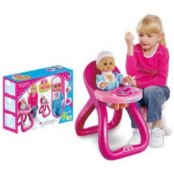 Toys-shop D.I Feed Chair With Doll 35Cm And Accessories JO026785 6990119267859